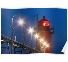 South Haven Michigan Light and Catw Poster