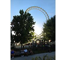Roller coaster Photographic Print
