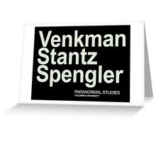 Ghostbusters Venkman Stantz Spengler Greeting Card