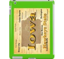 Aged Iowa State Pride Map Silhouette  iPad Case/Skin