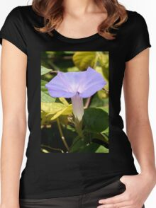 Purple Morning Glory Women's Fitted Scoop T-Shirt