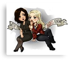 Swan Queen - With You I Always Know  Canvas Print