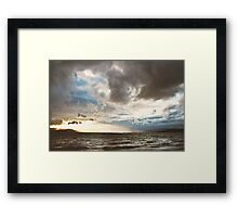 Stormy Evening, Buncrana Co. Donegal, Ireland. Framed Print