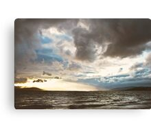 Stormy Evening, Buncrana Co. Donegal, Ireland. Canvas Print