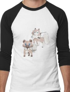 Rockruff and Lycanroc Midday Form Men's Baseball ¾ T-Shirt