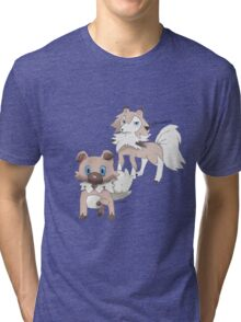 Rockruff and Lycanroc Midday Form Tri-blend T-Shirt