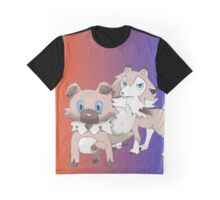 Rockruff and Lycanroc Midday Form Graphic T-Shirt