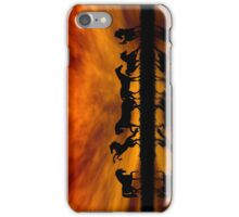 Horses at Sunset iPhone Case/Skin