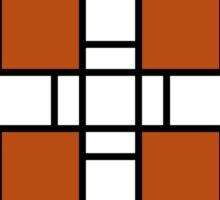 Neoplasticism symmetrical pattern in Tijuna gamboge Sticker