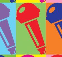 Pop Art Microphone Sticker