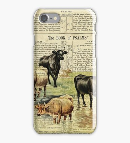 Farm Cow on Psalm 1 iPhone Case/Skin