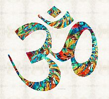 Colorful Om Symbol - Sharon Cummings by Sharon Cummings
