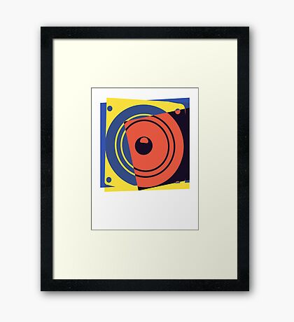 Pop Art Music Speaker Framed Print