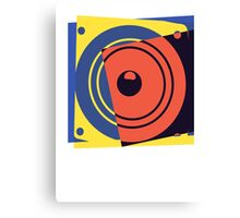 Pop Art Music Speaker Canvas Print