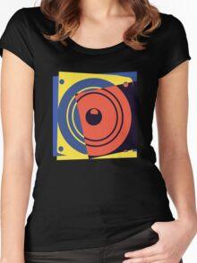 Pop Art Music Speaker Women's Fitted Scoop T-Shirt