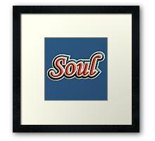 Vintage colorful soul music Framed Print