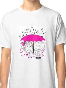 couple  standing under an umbrella n Classic T-Shirt