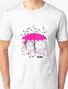 couple  standing under an umbrella n Unisex T-Shirt