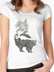 Skunk Painting  Women's Fitted Scoop T-Shirt