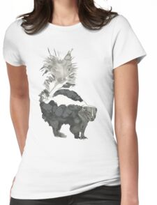 Skunk Painting  Womens Fitted T-Shirt