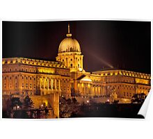 Buda Castle By Night Poster