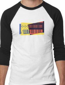 Pop Art Synth 101 Men's Baseball ¾ T-Shirt