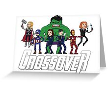 CROSSOVER Greeting Card
