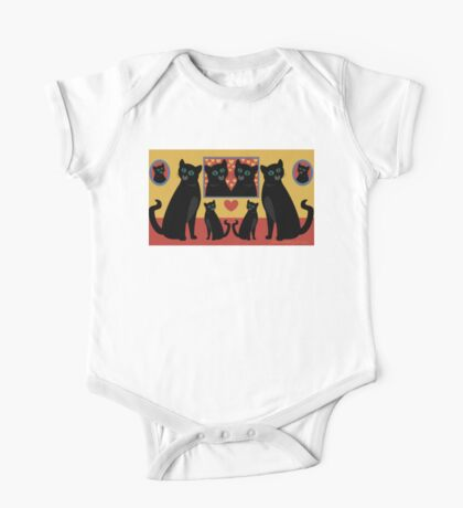 CATS AND FAMILY PICTURES One Piece - Short Sleeve