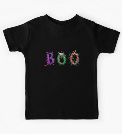 Colorful text Boo Kids Tee
