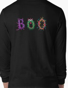 Colorful text Boo Long Sleeve T-Shirt