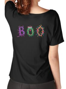 Colorful text Boo Women's Relaxed Fit T-Shirt