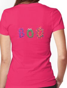 Colorful text Boo Womens Fitted T-Shirt