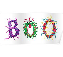 Colorful text Boo Poster