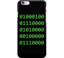 Binary sequence iPhone Case/Skin