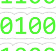 Binary sequence Sticker
