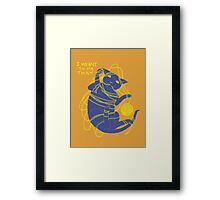Crafty Cat Meant to do That Framed Print