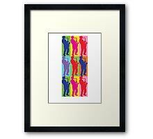 Pop Art Sax Player Framed Print