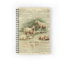 Vintage Lamb on Psalm 23 Spiral Notebook
