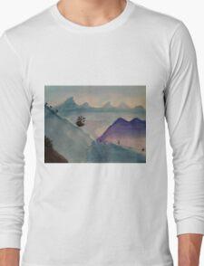 Watercolor Landscape Long Sleeve T-Shirt