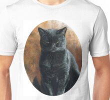 Black Cat Portrait, painting Unisex T-Shirt