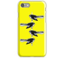 Piwakawaka Pair (on yellow) iPhone Case/Skin