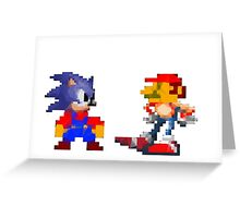 Mario Sonic Nintendo Sega Greeting Card