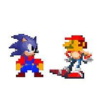Mario Sonic Nintendo Sega Photographic Print