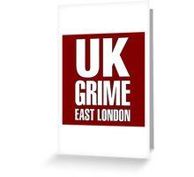 UK grime (white) Greeting Card