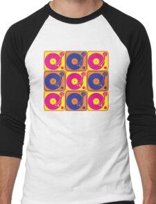 Vinyl Record Turntable Pop Art 3 Men's Baseball ¾ T-Shirt