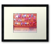 STRANGER THINGS ALPHABET LIGHTS Framed Print