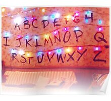 STRANGER THINGS ALPHABET LIGHTS Poster