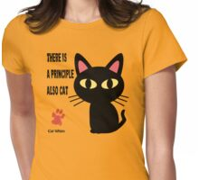 CAT PRINCIPLE Womens Fitted T-Shirt