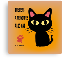 CAT PRINCIPLE Canvas Print