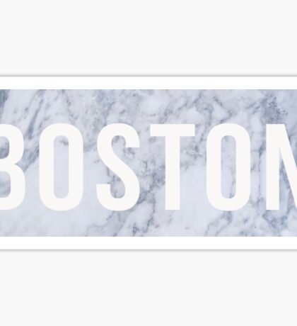 Marble Boston Sticker
